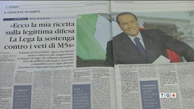 """Berlusconi: """"La mia ricetta sulla legittima difesa"""""""
