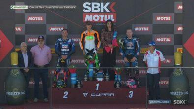Il podio della Supersport