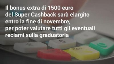 Slittano i rimborsi del Cashback: tutte le novità