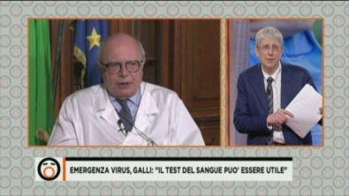 """Emergenza virus, Galli: """"Dobbiamo fare tesoro di questa esperienza"""""""