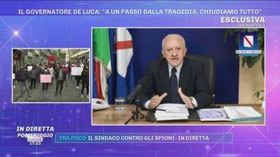 Covid-19, Il Governatore De Luca: ''A un passo dalla tragedia, chiudiamo tutto''