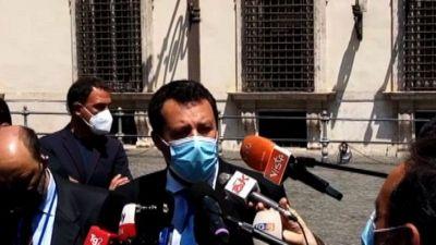 Salvini: a Draghi ho chiesto di togliere obbligo delle mascherine