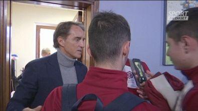 Mancini tra selfie e la 10 del ministro