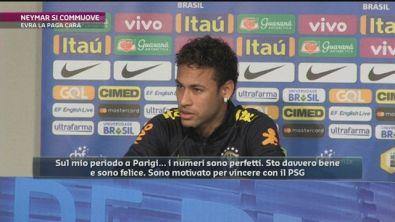 Neymar si commuove