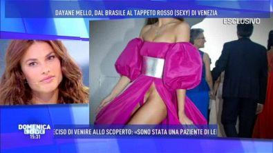 Dayane Mello, dopo il red carpet molto ot di Venezia