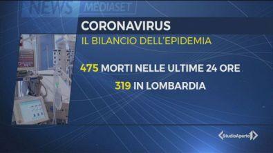 Italia: 475 morti in un giorno per il coronavirus