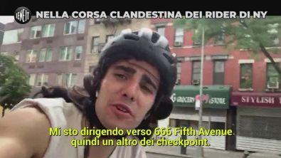 Nella corsa clandestina dei rider di New York
