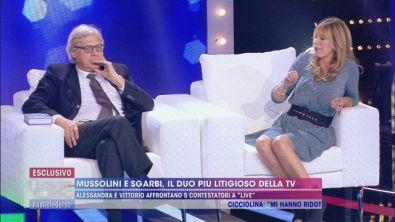 Alessandra Mussolini e Vittorio Sgarbi