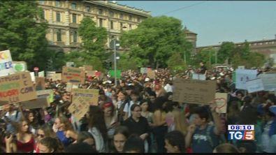 In piazza per il clima sciopero degli studenti