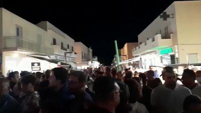 Italia campione d'Europa, anche Lampedusa festeggia gli Azzurri