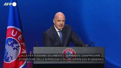 """Superlega, Infantino: """"Disapproviamo con forza la sua creazione"""""""