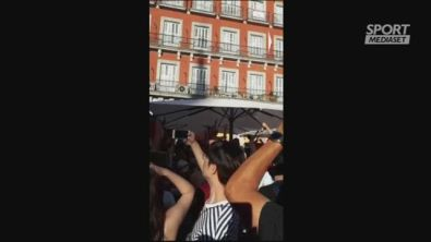Plaza Mayor diventa campo da... Champions