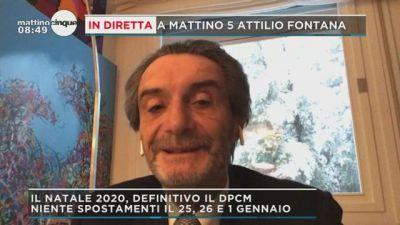 Nuovo Dpcm, parla Attilio Fontana