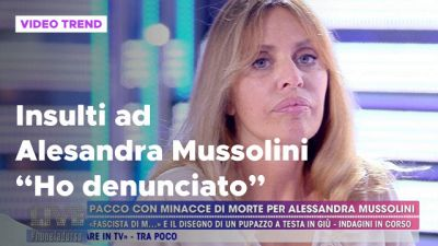 """Insulti ad Alessandra Mussolini: """"Ho denunciato"""""""