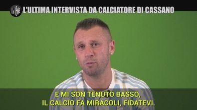 Questa sera a Le Iene l'ultima intervista da calciatore a Cassano