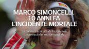 Marco Simoncelli, 10 anni fa l'incidente mortale