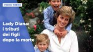 Lady Diana: i tributi di William e Harry dopo la morte