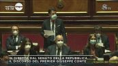 Giuseppe Conte al Senato: le battute conclusive