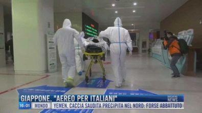 """Breaking News delle 16.00   Giappone, """"aereo per italiani"""""""