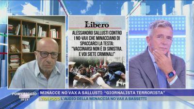 Alessandro Sallusti replica ai no-vax