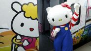 A bordo del treno di Hello Kitty