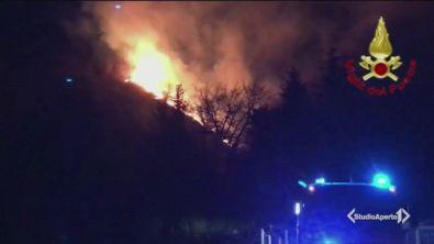 Bruciati 100 ettari di bosco