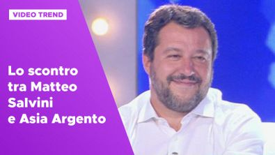 Lo scontro tra Matteo Salvini e Asia Argento