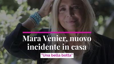 "Mara Venier, nuovo incidente in casa ""Una bella botta"