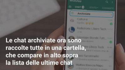 WhatsApp: cosa cambia per le chat archiviate