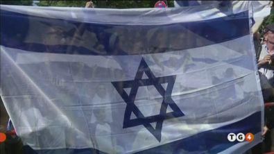 Bandiera israeliana al bando in Francia