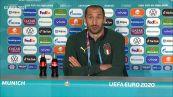 """Europei, Chiellini: """"Pronti a fermare Lukaku senza snaturarci"""""""
