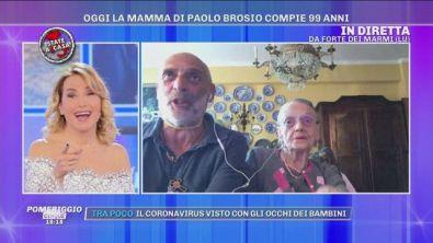 Il compleanno della mamma di Paolo Brosio