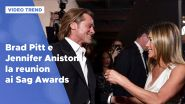 Brad Pitt e Jennifer Aniston: la reunion ai Sag Awards