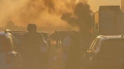 Assalto a portavalori sull'A1: fuoco, chiodi e spari