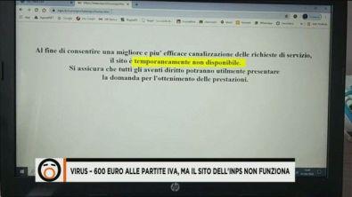 Virus - 600 euro alle partite Iva, ma il sito dell'Inps non funziona