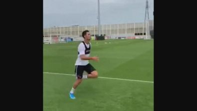 Ronaldo stakanovista: si allena con lo special guest, Cristiano jr