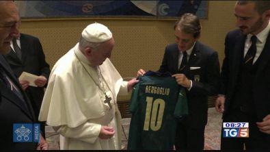 La Nazionale in visita da Papa Francesco