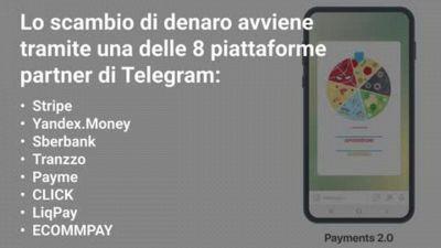 Telegram lancia i pagamenti online per tutti