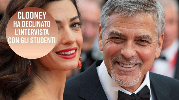 La lettera di George Clooney agli studenti in protesta