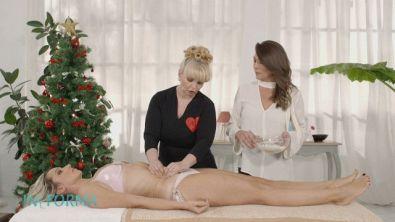 Un massaggio per aiutare a sgonfiare l'addome