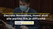 Decreto Novembre, nuovi aiuti alle partite IVA in difficoltà: cosa prevede