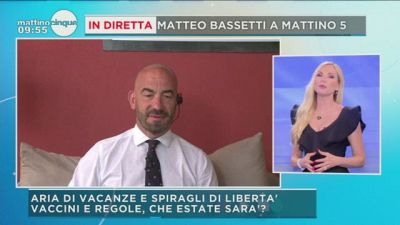 Matteo Bassetti a Mattino 5