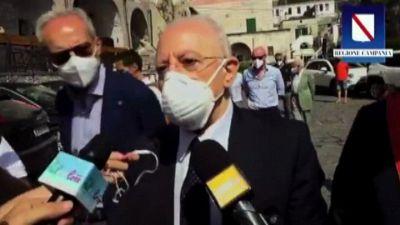 De Luca: poche proteste contro green pass, affermazione ragione
