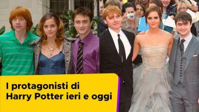 I protagonisti di Harry Potter ieri e oggi