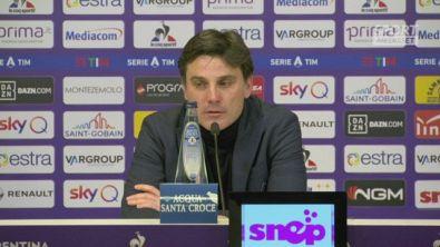 """Fiorentina, Montella: """"Felice per Vlahovic"""""""