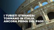 I turisti stranieri tornano in Italia ancora prima del pass