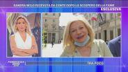 Sandra Milo incatenata davanti Palazzo Chigi