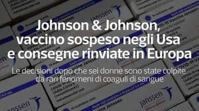 Johnson & Johnson, vaccino sospeso negli Usa e consegne rinviate in Europa