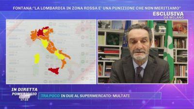 Fontana: ''La Lombardia in zona rossa? Mi riservo di impugnare l'ordinanza''