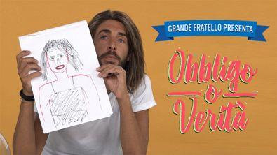 """Enrico Contarin disegna la sua donna ideale a """"Obbligo o Verità"""""""